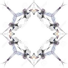 abstract winter pattern in the nouveau style on a white