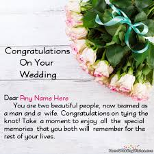 Wedding Wishes Online Editing Best Ever Wedding Congratulations Images With Name
