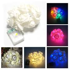2m 20 led rose flowers string lights clear cable bedroom