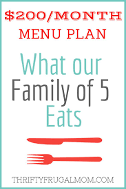 monthly dinner planner template 200 month menu plan for our family of 5 frugal meal plan what we eat on a budget