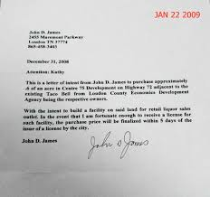 Intent Letter For A Job by Letter Of Intent For Jobsample Letter Of Intent Job Application