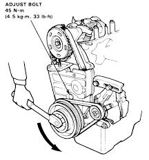 2001 honda civic timing belt tensioner repair guides engine mechanical timing belt and tensioner