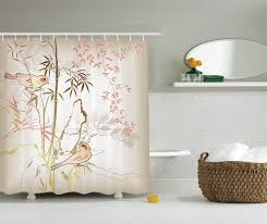 image of cool modern shower curtains curtains bathroom shower warm tour ambesonne vintage bamboo polyester shower curtain with hooks pink ecru khaki