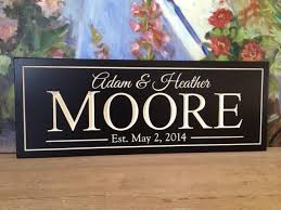 carved bridal personalized wedding carved sign carved sign family name sign