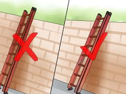 2 easy ways to use an extension ladder with pictures
