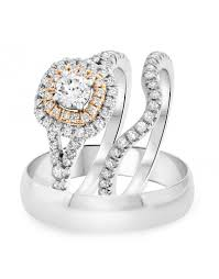 His And Her Wedding Rings by Traditional His And Her Wedding Ring Sets Trio Ring Sets