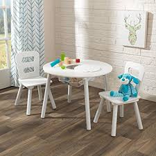 kidkraft round table and 2 chair set amazon com kidkraft kids round table and 2 chairs set white toys