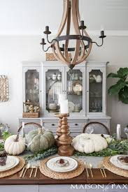 neutral thanksgiving table decor maison de pax