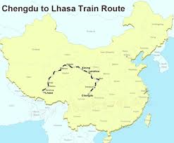Tibetan Plateau Map Tibet Railway Maps Qinghai Tibet Railway Maps Tibet Railway Tour