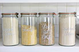 what to put in kitchen canisters custom labels to organize everything at home apartment therapy