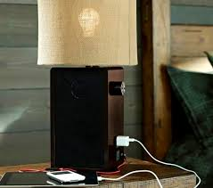 Desk Lamp With Power Outlet Classy Idea Table Lamps With Power Outlets Bedside Home Website
