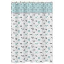 Turquoise And Grey Shower Curtain Sweet Jojo Designs Shower Accessories Shop The Best Deals For
