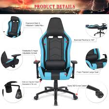 Ergonomic Computer Chair With Footrest And Headrest Also Adjustable Laptop Holder Ikayaa Us Uk Fr Stock Gaming Office Chair Computer Chair Height