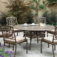 7 Piece Round Patio Dining Set - darlee santa barbara 7 piece cast aluminum patio dining set with