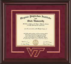 ohio state diploma frame virginia tech diploma frame rosewood w embossed vt seal name