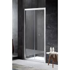 Bifold Shower Door Shop Anzzi Rart Series 35 43 In To 36 In Framed Brushed Nickel