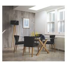 dublin 8 seater oak and glass dining table buy now at habitat uk