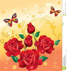 Roses And Butterflies - roses and butterflies stock photos image 18721913