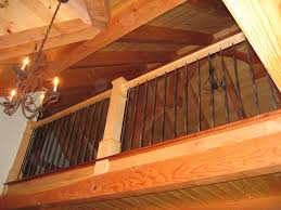 decor iron stair rails design ideas with wooden ceiling plus