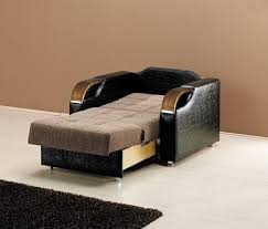 bed chair amusing brown rectangle modern leather fold out chair