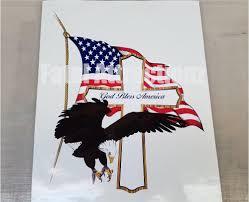 Bald Eagle On Flag God Bless America Cross Eagle Cross Flag Vinyl Sticker Decal Usa