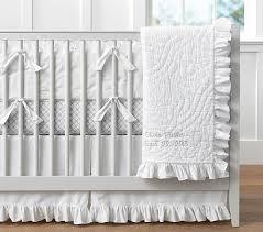 White Ruffle Crib Bedding Ruffle Baby Bedding Sets Pottery Barn
