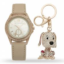 rose gold appliances metaphor ladies rose gold blush watch and keychain set shop your