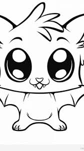 easy cute animal coloring pages timykids