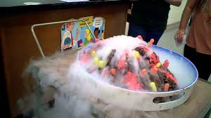 dry ice volcano cake 5th grade science project youtube