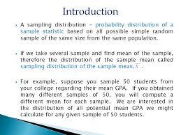 sampling distributions ppt video online download