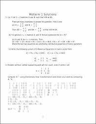 math225 m1 sol midterm 1 solutions 1 a find 2 2 matrices a and