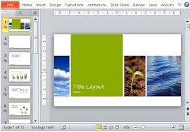 best free nature powerpoint templates