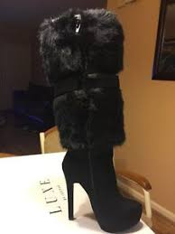justfab s boots s black just fab boots luxe jf ivana faux leather knee 5