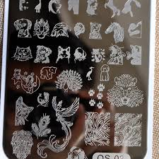 online get cheap nail stamping plates peacock feather aliexpress