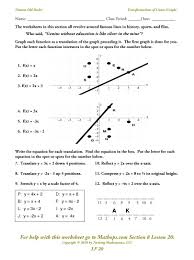 Graphing Functions Worksheet Lf 20 Linear Graphs Transformations Mathops