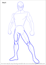 learn draw ultimate spider man ultimate spider man step