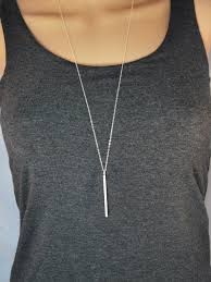 long necklace images Vertical bar necklace silver bar necklace long necklace jpg