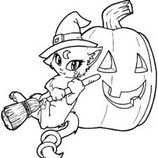 cute witch coloring kids drawing coloring pages marisa