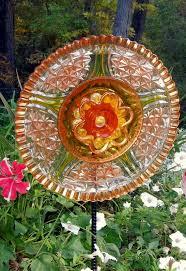 298 best glass garden plate flower whimsey images on pinterest