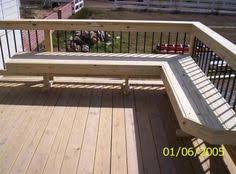 perimeter bench seating on deck love this remodeling ideas