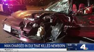 man charged with murder after baby born dies after crash daily
