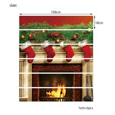 colormix christmas fireplace stockings pattern decorative stair