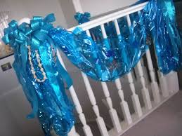 where can i buy colored cellophane garland made from rolls of blue cellophane from blue