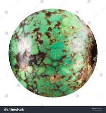 natural turquoise stone round bead old green turquoise natural stock photo 363882326