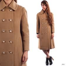 retro wool coat 60s vintage beige camel hair women winter wool