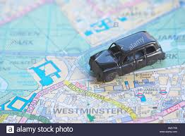 Map Of London England by Black Cab Taxi On Map Of London England Britain United Kingdom Uk