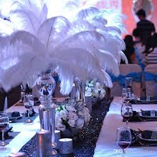 Ostrich Feather Centerpieces White Ostrich Feather Large Ostrich Plumage Home Decoration