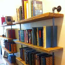 Barnwood Wall Shelves Industrial Wall Unit Pipe Shelving Unit Reclaimed Barn Wood