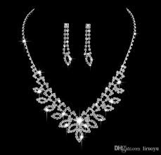 bride necklace images 2018 fashion style inlaid austria crystal bride necklace earring jpg