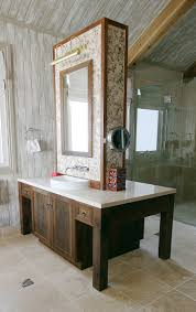 decoration ideas fabulous white marble top in brown wooden bath